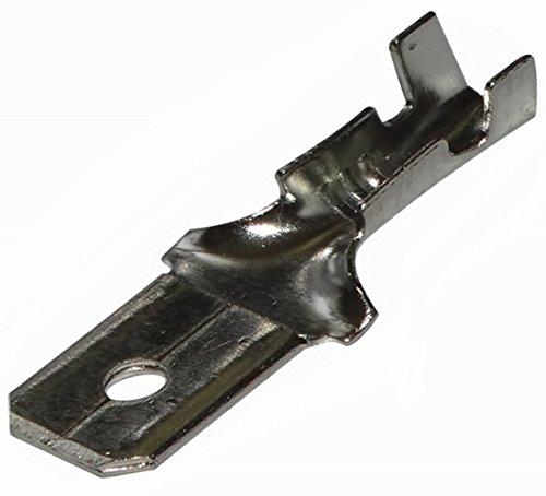 AERZETIX: 100x Cosses électriques mâles Plates 6.3mm 0.8mm 1.5.2.5mm2