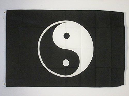 AZ FLAG Drapeau Yin et Yang 150x90cm - Drapeau Chinois - Chine 90 x 150 cm - Drapeaux