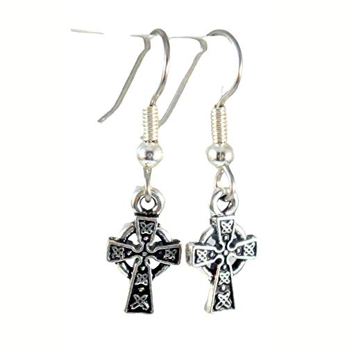 Tiny St Brigid Cross Earrings 1683