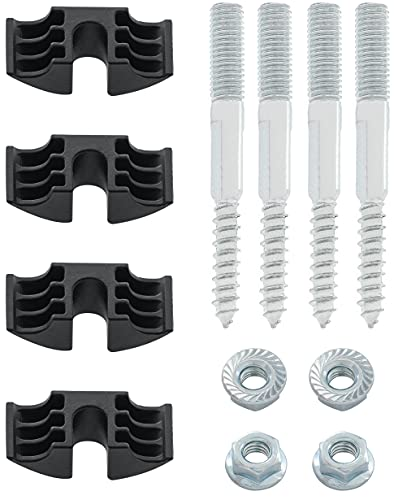 Spare Hardware Parts Juego de 4 piezas de repuesto para cabecera IKEA MALM (parte #122998 + 114254 + 114334)