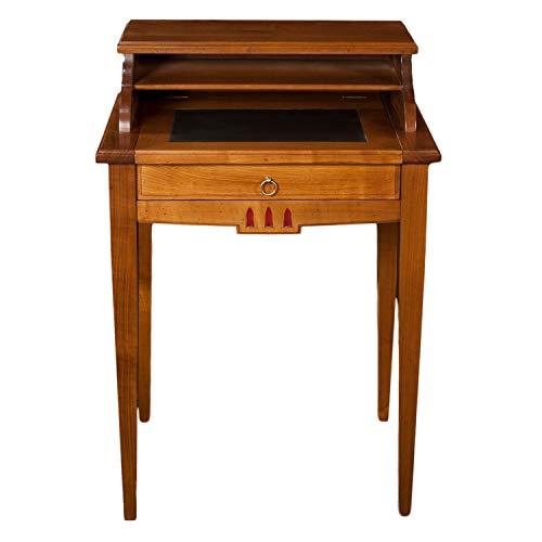 GONTIER Schreibtisch aus Massivholz Kirschbaum Tönung D-100% Made in France