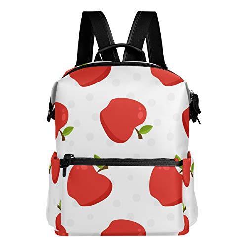 りんご 赤い きれい リュック 学生用 デイパック レディース 大容量 バックパック 男女兼用 機能性 大容量 防水性 デザイン 旅行 ブックバッグ ファション