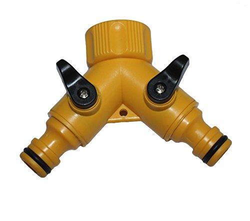 Generic dyhp-a10-code-3639-class-1 -- Robinet de jardin adaptateur tuyau pour robinet 2 voies N/ADAP Répartiteur/Split connecteur de tuyau/tuyau pi – -dyhp-uk10–160819–1899