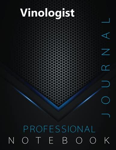 "Vinologist Journal, Professional Vinology Certification Exam Preparation Notebook, examination study writing notebook, Office writing notebook, 140 pages, 8.5"" x 11"", Glossy cover"