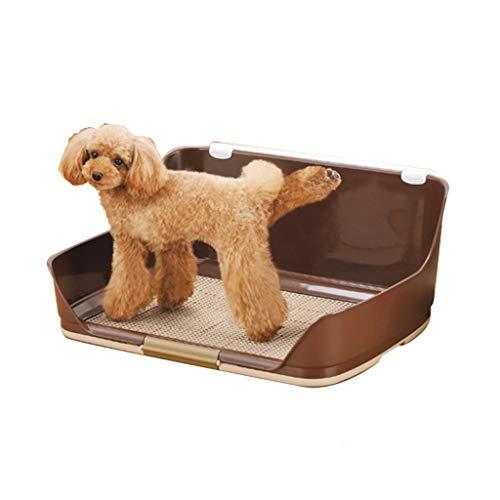 LT Hundetoiletten-Ineinander greifen-Haustier-Abfall-Behälter-Trainings-Auflage-Halter mit Zaun (Size : Brown)