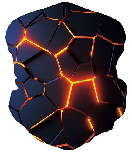chicolife Multifunktionstuch Nahtloses Halstuch Schlauchtuch Schal 3D Druck Kopftuch Stirnband Motorrad Bandana Outdoor UV Staubschutz Mund-Tuch