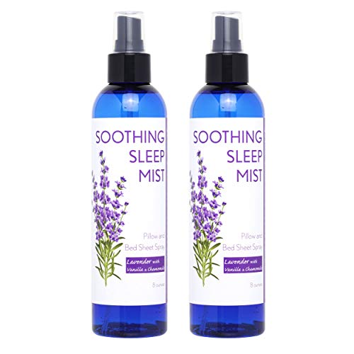 Sleep Spray for Calming Sleep. Relaxing Lavender Pillow Spray. All Natural Sleep Aid. Aromatic Mist to Promote Deep Sleep and Stop Snoring. 2X Large Bottles. (Lavender with Vanilla & Chamomile)