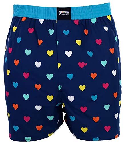 Happy Shorts Webboxer Herren Boxer Motiv Boxershorts Farbwahl, Grösse:M - 5-50, Präzise Farbe:Design 35
