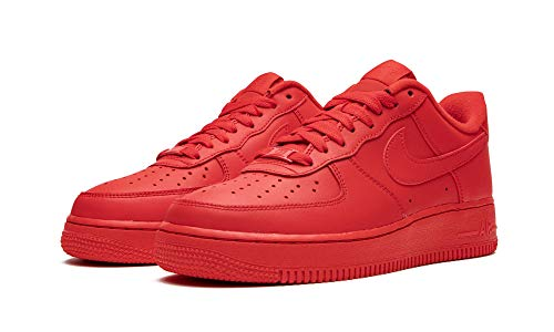 Nike Mens Air Force 1 '07 Lv8 Triple Red Cw6999 600 - Size 7.5