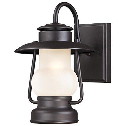 Westinghouse Lighting 6204200 Santa Fe 1 Light Outdoor Wall Lantern, Weathered Bronze