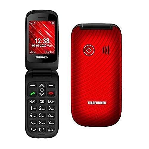Telefunken - Teléfono móvil S440, Rojo