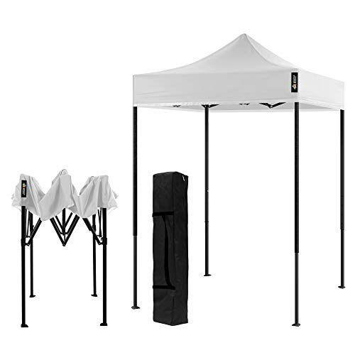 AMERICAN PHOENIX Canopy Tent 5x5 Pop Up Portable Tent Commercial Outdoor Beach Instant Sun Shelter (White)