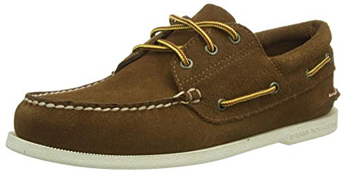 Sperry mens A/O 3-eye Suede Boots Lace Boat Shoe, Tan, 11 US
