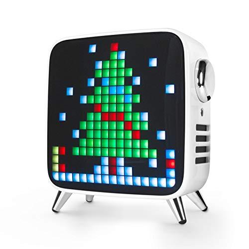 Divoom Tivoo Max 2.1 - Altavoz Bluetooth con pantalla LED multicolor, 10000 mAh, 40 W, caja de música, despertador digital inteligente, para decoración, luz nocturna, fiesta (blanco)