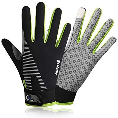 YHT Workout Gloves, Full Palm Protection & Extra Grip, Gym Gloves for Weight Lifting, Training, Fitness, Exercise (Men & Women) (Green,Small)