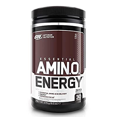 Optimum Nutrition Amino Energy Pre Workout Powder Keto Friendly with Beta Alanine, Caffeine, Amino Acids and Vitamin C, Cola, 30 Servings, 270 g