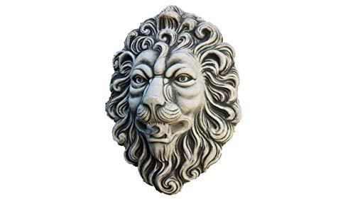 Wasserspeier für die Wand, Steinfigur Löwenkopf, aus Steinguss