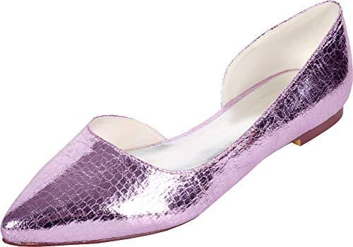 Zapatos de tacón plano para mujer, con puntera puntiaguda, para boda, OL,...