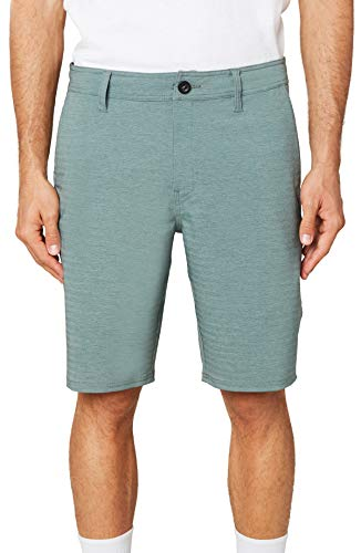 O'NEILL Men's Water Resistant Hybrid Walk Short, 20 Inch Outseam (Washed Ivy/Locked, 33)