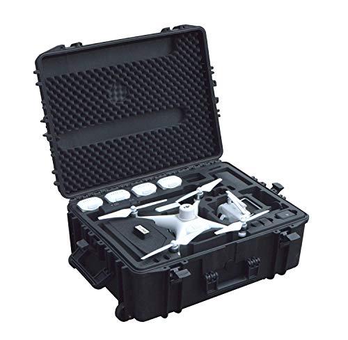 Trolley professionale da esterno per Phantom 4 RTK con stazione base e spazio per un massimo di 6 batterie e molti accessori, custodia impermeabile da esterno, IP67