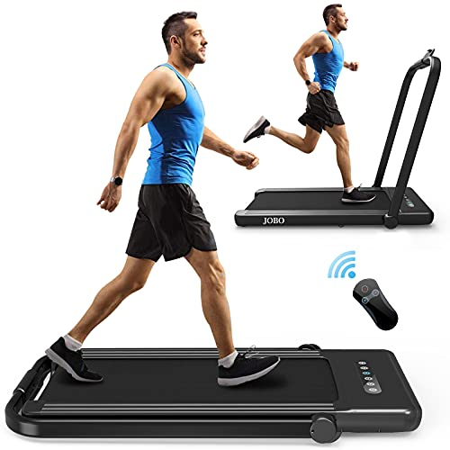 Foldable Treadmill for Home, 2 in 1 Treadmill with LED Screen, 2.3HP Portable Under Desk Electric Treadmill, Walking Machine Suitable for Home&Office Use
