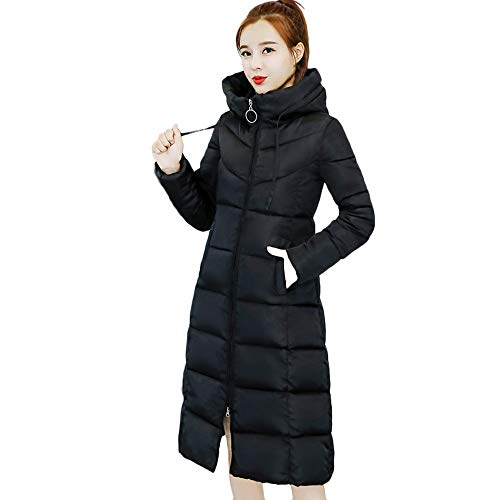 JERFER Women Winter Warm Ski Coat Collar Long Jackets Warm Thicken Padded Hooded Coat S-2XL Black Gray Army Green Outercoat