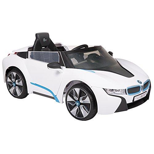 Rollplay Elektrofahrzeug mit Fernsteuerung und Rückwärtsgang, Für Kinder ab 3 Jahren, Bis max. 35 kg, 6-Volt-Akku, Bis zu 4 km/h, BMW i8 Concept Spyder, Weiß