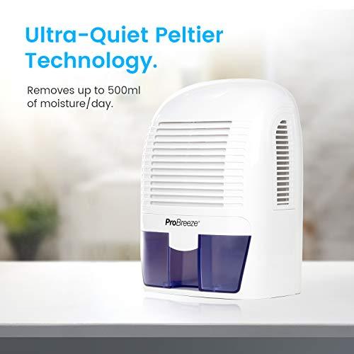 Pro Breeze® Mini Déshumidificateur d'Air Compact 1500 ml | Anti-humidité et Moisissures | Maison, Cuisine, Chambre, Salle de Bain, Caravane, Bureau, Garage