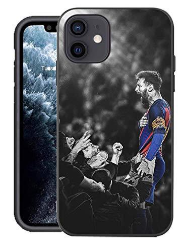 Compatible con Funda para iPhone 12/12 Pro, Equipo de fútbol diseñado para Funda para iPhone 12/12 Pro, Funda de 6,1 Pulgadas (Messi-FCB)