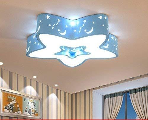Family Utility tafellamp-led plafondlamp bed voor kinderen licht slaapkamer licht creatieve wolken maan kleuterschool voor jongens en meisjes om cartoon-lampen, roze petrokraka geen polariteit dimmen Blauwe ster op een dimmende paal.