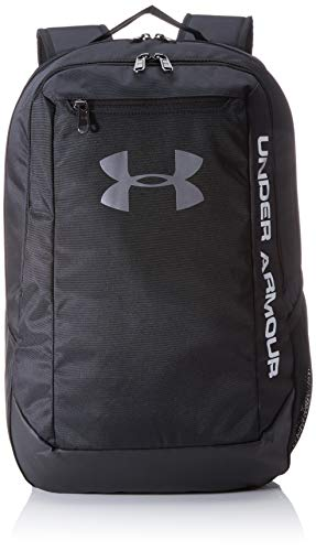 Under Armour Hustle Ldwr Backpack, Black (001)/Silver, One Size Fits All