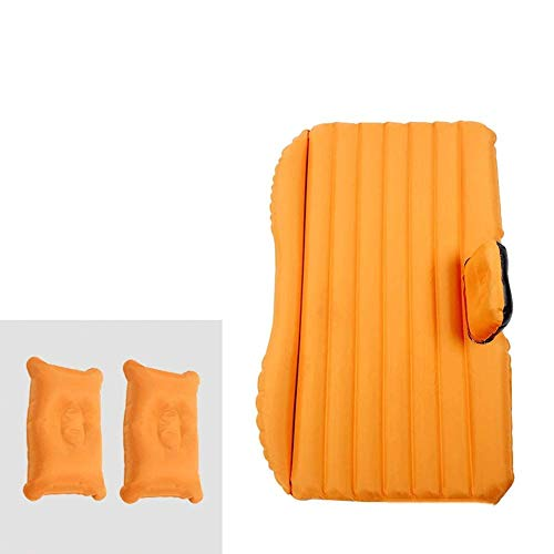 Outdoor Flocking Inflatable Car Air Mattress, Car Folding Rear Seat Rest Air Bed Couch, Camping Universal SUV Soft, 2 Pillows And Air Pump B