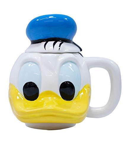 Caneca Porcelana Rosto Pato Donald 470 Ml - Disney
