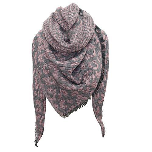 aihihe Leopard Winter Fall Scarf for Women Stylish Soft Chunky Warm Cozy Wrap Oversized Shawl Cape Giant Scarves