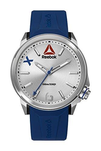 Reebok RD-FLA-G2-S1IN-1N Reloj para Hombre, Redondo, Análogo, color Plata y Azul