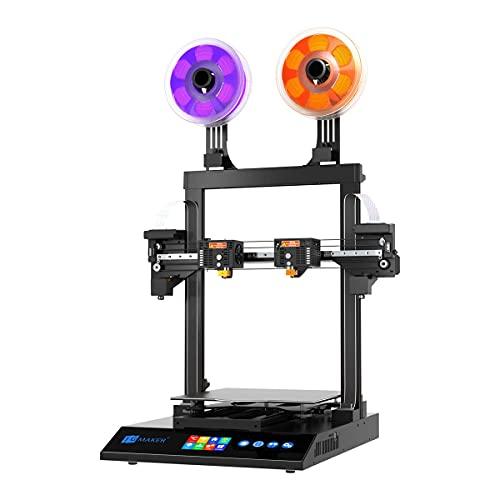 Bornnew 3D Printers, Artist-D Pro Dual Extruder Independent 3D Printer with Fast Heating All Metal Frame Larger Platform 300x300x340mm