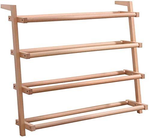 Lloow Racks Schuhaufbewahrung Schuhe, Platz sparend an die Wand Schuhregal, Single Hutch, mehrschichtiges Holz Wohn- / Bad,69 * 70cm
