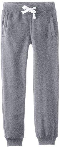Southpole Boys' Big Active Basic Jogger Fleece Pants, Heather Grey, Medium / 10-12