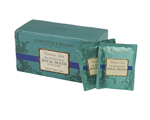 Fortnum & Mason British Tea, Royal Blend Decaffeinated, 25 Count Teabags (1 Pack)