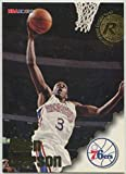 1996-97 Hoops #295 Allen Iverson RC Rookie NBA Basketball Trading Card Philadelphia 76ers. rookie card picture