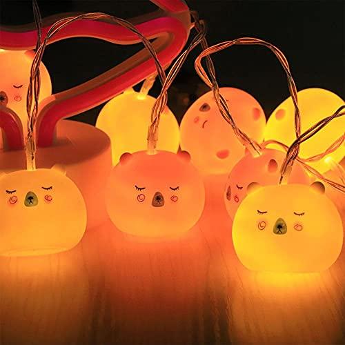 LINGTH Guirnalda de luces LED para fiestas de Navidad, jardín, decoración de jardín, luces con batería alimentadas por animales, luces de jardín, luces de fiesta para niños.