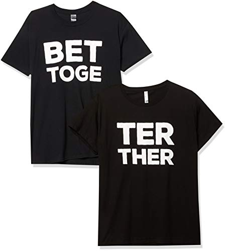 Better Together Matching T-Shirts for Couples His & Hers Shirts Men Black Medium/Women Black Large