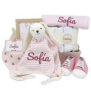 Sneakers de Mababy | Canastilla de Bebe | Regalo original Recien Nacido | Cesta de Bebe Personalizada | Regalos bebé (rosa, 0-3 meses)