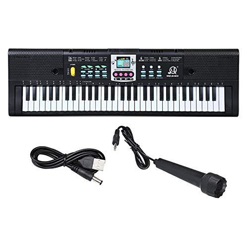 freneci Teclado Piano 61 Teclas 16 Tonos 6 Canciones de Demostración 4 Grabación de Instrumentos de Percusión