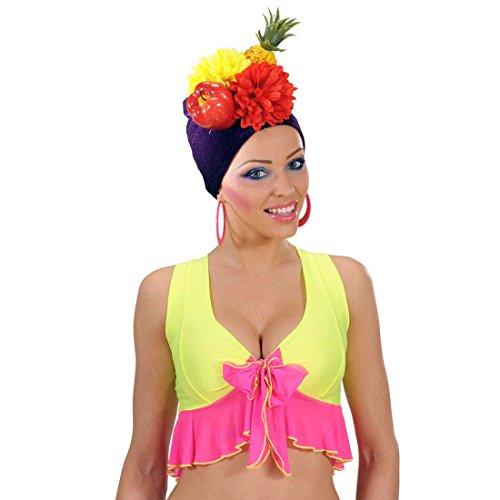 NET TOYS Copricapo con Frutta e Fiori Cappello Tropicale Party Frutti Floreale Carnevale Rio