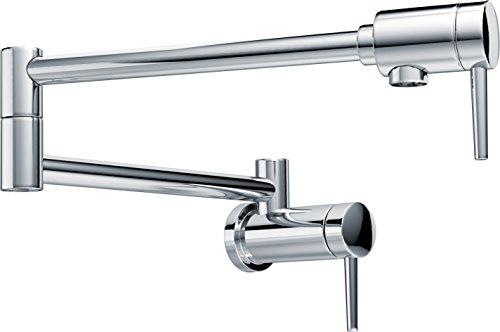 DELTA Contemporary Wall-Mount Pot Filler Faucet, Chrome 1165LF