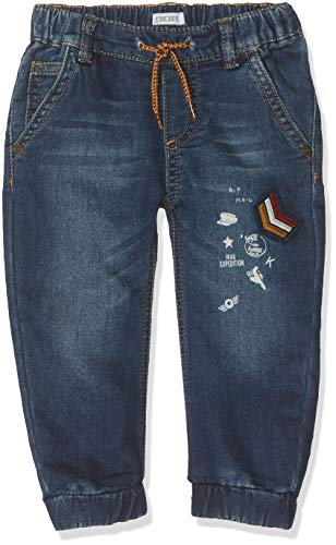 IKKS junior baby-jongens denim knitlook patchs jeans