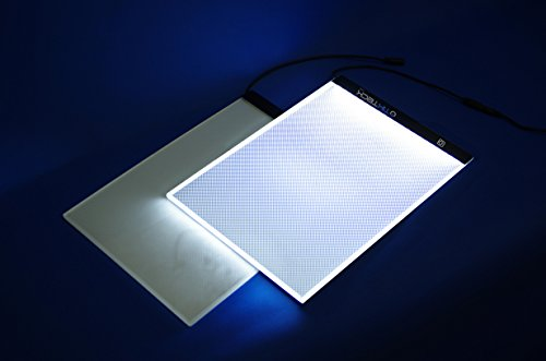 A4 Size Ultra-Thin Portable LED Light Box Tracer LED Artcraft Tracing Light Pad Light Box w 3 Level Brightness for Artists Drawing Sketching Animation and 5D DIY Diamond Painting