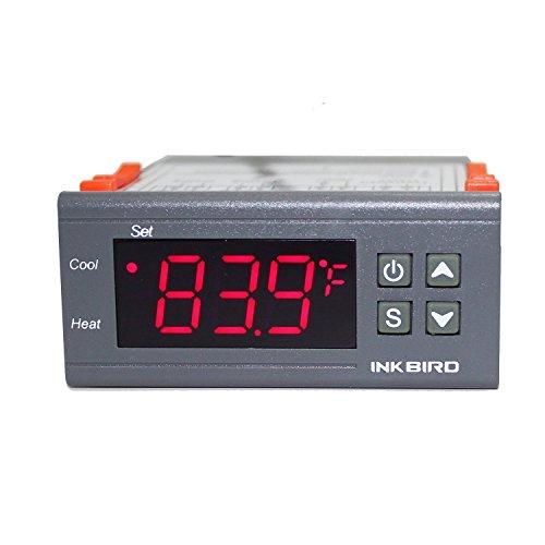 Inkbird ITC-1000 Termostato Digital Calefacción y Refrigeración con Sonda 220v, LCD Display y 2 Relés Control de Temperatura para Fabricación de cerveza, Reptiles incubadora, Acuarios marino