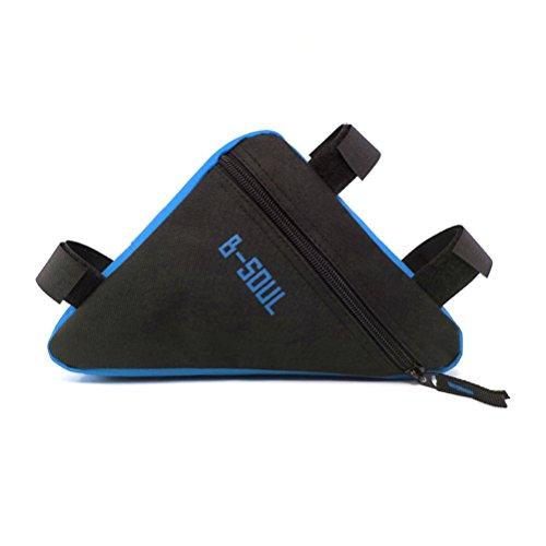 VORCOOL Bolsa Triángulo para Bicicleta Impermeable para Ciclismo al Aire Libre (Negro y Azul)